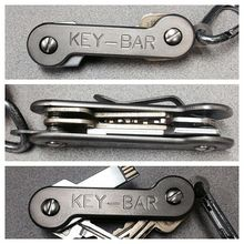 Titanium KEY-BAR - super durable (and more expensive) version of the keysmart Edc Gadgets, Cool Gadgets, Edc Tools, Survival Tools, Edc Keychain, Keychains, Do It Yourself Organization, Key Organizer, Edc Everyday Carry