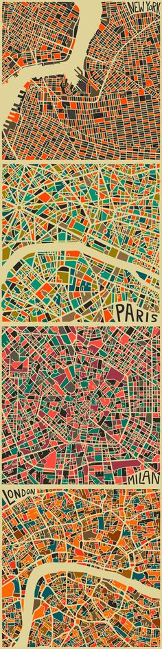 City maps by Jazzberry Blue