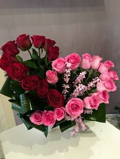 33 Beautiful Valentine Flower Arrangements That You Will Like - Flowers are one of the most popular gifts given and sent on Valentines day. Sons buy a pretty posy for their mom, boys buy them for their girlfriends,. Funeral Flowers, Wedding Flowers, Bouquet Flowers, Wedding Bouquets, Church Flowers, Valentine's Day Flower Arrangements, Tropical Floral Arrangements, Ikebana Arrangements, Valentines Flowers