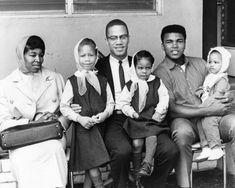 Betty Shabazz and El Hajj Malik El Shabazz with Muhammad Ali (it keeps getting better - sometimes I hate photoshop)