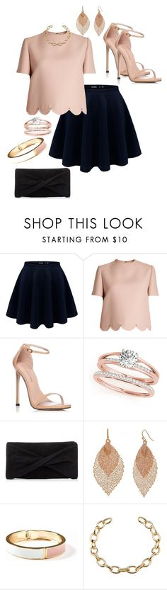 """""""#fashion #stylish #outfit"""" by ladypeacful ❤ liked on Polyvore featuring Valentino, Stuart Weitzman, Reiss, Bold Elements and Old Navy"""