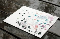 painting with rain!