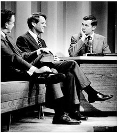 Ed McMahon, Robert F. Kennedy, and Johnny Carson on the Tonight Show, 1966.