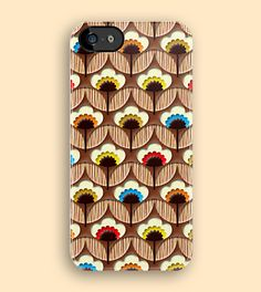 Chocolate Flower Pattern - Apple iPhone 5, iphone 4 4s, iPhone 3Gs, iPod Touch 4g case