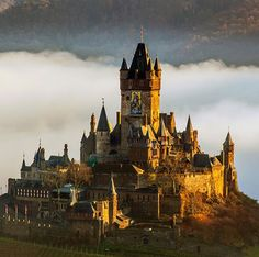 Cochem Castle, Schlossstraße 36, 56812 Cochem, Germany.... www.castlesandmanorhouses.com .... In 1294, King Adolf of Nassau pawned the castle, the city of Cochem and surrounding imperial property of about 50 villages to Boemund I of Trier to pay for his coronation as German Emperor. Neither Adolf nor his successor, King Albrecht I of Austria could redeem the loan. For this reason the archbishops of Trier kept Cochem as a hereditary fiefdom until 1794.