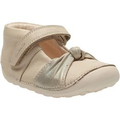 Clark Children's Little Nia Shoes, Cream ❤ liked on Polyvore