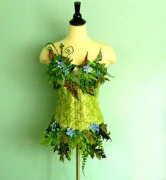 - Woodland Fairy Costume Top - Earth Faerie corset - Mother NatureEarth Fairy Costume