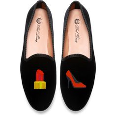Del Toro #Highmaintenance Loafer ($340) ❤ liked on Polyvore featuring shoes, loafers, flats, black, velvet flats, del toro shoes, velvet shoes, velvet loafers and flat shoes