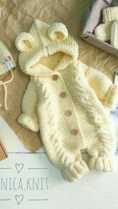 Hand knit baby romper Knitted baby clothes Baby coveralls Overalls jumpsuit wool Knitted baby wool coming home outfit Knit jumpsuit Crochet Baby Cocoon, Newborn Crochet, Free Crochet, Baby Cocoon Pattern, Boys Knitting Patterns Free, Baby Patterns, Crochet Patterns, Crochet Baby Cardigan Free Pattern, Knitting Ideas