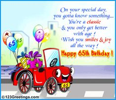 65th Birthday Wishes Happy Special Occasion Greeting Cards