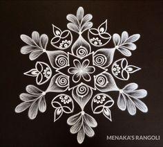 Easy Rangoli Designs Videos, Simple Rangoli Border Designs, Indian Rangoli Designs, Free Hand Rangoli Design, Rangoli Borders, Small Rangoli Design, Rangoli Designs Images, Rangoli Designs With Dots, Beautiful Rangoli Designs