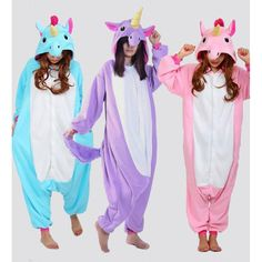 85 , Blue Unicorn Kids Boys Girls Animal Character Onesies Fancy Dress Up Pyjamas Pajamas Size Age 2-4 Y