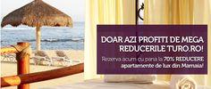 Doar azi profita de MEGA REDUCERILE Turo.ro. Rezerva acum cu pana la 70% REDUCERE la apartamente de lux din Mamaia.  http://www.turo.ro/