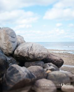 Beach Photography - Landscape Print Seascape Pebbles Rocks Shore Stones Pale Blue Summer Blue Art. (25.00 USD) by TaraSinclairHingco
