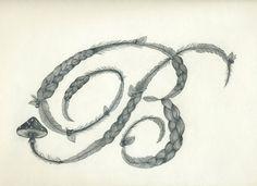 Ornate letter 'B'
