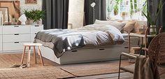 IKEA NORDLI vit säng med förvaring