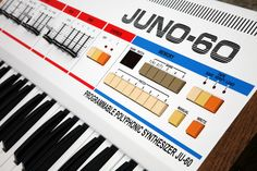 Roland Juno 60 VSE [White custom Roland Juno 60 – Very Special Edition] Music Production Equipment, Recording Equipment, Dj Equipment, Vintage Synth, Vintage Keys, Music Machine, Drum Machine, Electronic Music Instruments, Musical Instruments