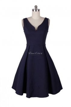 chic navy blue party dress