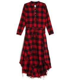 NSF Red & Black 'Caleb' Plaid Dress
