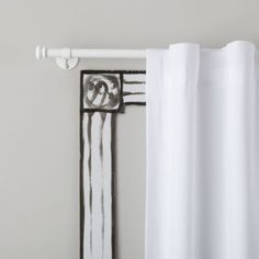 "Button Cap Single Rod (White) land of nod $29 for 49.5"" width (40"" window plus molding)"