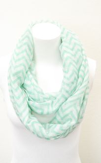 Chevron Print Infinity scarves.. Any big comfy scarves will do. Just like the infinity ones!