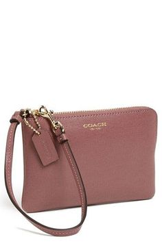 COACH 'Small' Leather Wristlet available at #Nordstrom http://shop.nordstrom.com/S/coach-small-leather-wristlet/3628269?origin=category&BaseUrl=Clutches+%26+Evening+Bags