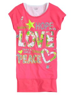 Paint Splatter Tunic   Short Sleeve   Tops & Tees   Shop Justice  size 7