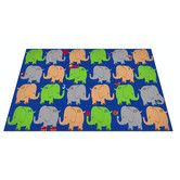 Found it at Wayfair - Elephant Seating Classroom Kids Rug