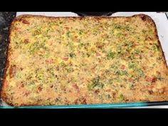 ▶ New Recipe! Breakfast Egg Cheese & Veggie Casserole! 2 Points Plus per huge slice! - YouTube