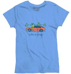 Flat Tire Ladies T-Shirt