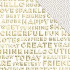 Crate Paper - gold foiled detail
