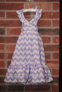 Chevron Toddler Maxi Dress