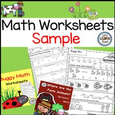 Math Worksheets Sample for Preschool, Kindergarten or First Grade! Let's Learn S'more!