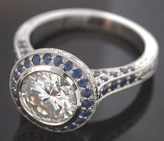 Like this one too, the saphire and diamonds are so pretty but it may get old