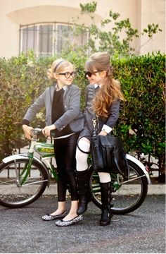 Unique and fun hair styles for school age girls. Love the clothes too!