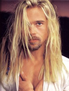 My first crush. Poor little Liv discovered the wonders of long haired boys at a very young age. #bradpitt