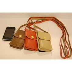 Ibana Rouge telefoon tasje met schouderband Kleur, Cognac.