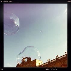 Bubbles at castle Schönbrunn, Vienna.