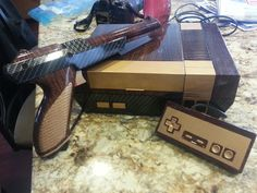 Picture of Vintage crossover NES System and Zapper Video Game Anime, Video Games, Man Cave Games, Super Mario Games, Custom Consoles, Old Technology, Best Mods, Anime Toys, Videogames