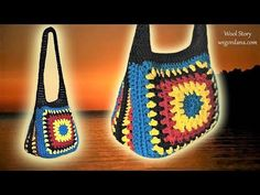 You can see Step by step instruction and video tutorial how to crochet a granny square handbag. Diy Crochet Bag, Crotchet Bags, Crochet Bag Tutorials, Crochet Girls, Crochet Instructions, Crochet Videos, Crochet For Kids, Cute Crochet, Tutorial Crochet