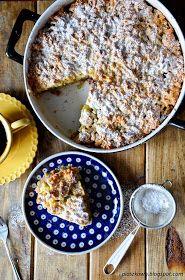 płaszkowo: Ciasto z rabarbarem i jabłkami Oatmeal, Breakfast, Blog, The Oatmeal, Morning Coffee, Rolled Oats, Blogging, Overnight Oatmeal