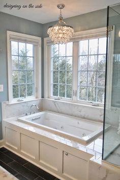 ideas for the main bath. like the tub and tiles