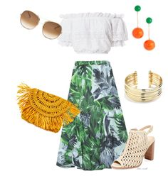 Designer Clothes, Shoes & Bags for Women Midi Skirt, Clothes For Women, Skirts, Polyvore, Stuff To Buy, Outfits, Shopping, Design, Fashion