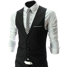 4 Farbe Herren Maenner Weste V-Neck Business Vest Gentleman Style Freizeit Anzug Guenstig(Medium,Schwarz) Fashion Season http://www.amazon.de/dp/B00JO8R2BE/ref=cm_sw_r_pi_dp_xjmuub0AC0QSP