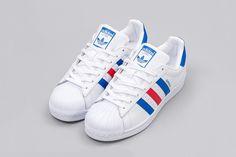 "adidas ""Tri-Color"" Superstar Red White Blue Three Stripes - 3760156"