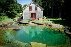 From ornamental water features to elaborate natural pools for swimming and more, this array of tempting ponds will inspire thoughts of summer. pool water features 13 Inspirational Backyard Ponds and Pools Pool Spa, Swimming Pool Pond, Natural Swimming Ponds, Natural Pond, Pool Water, Piscine Diy, Living Pool, Water House, Dream Pools