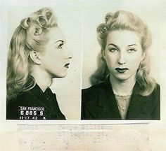 Tanya Williams, 1942.  Arrested for putting on an indecent show.