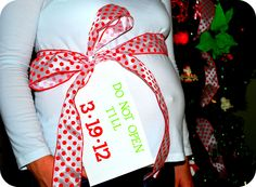 though this is adorable, I will NOT have a christmas baby!
