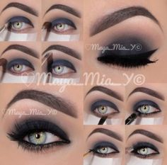 Arabian smokey eye shadow makeup
