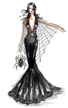 #fashionillustration #fashionillustrator #illustration #halloweenillustration #fashionsketch #sketch #fashiondraw #draw #happyhalloween #horror #witch #witches #ghost #trickortreat #bozzetto #fashion #instaart #art #instafashion #inspirat The Glam Pepper